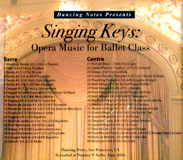 Singing Keys: Opera Music for Ballet Class  レッスンCD                                        [Nina Pinzarrone & Lindsay Fischer]